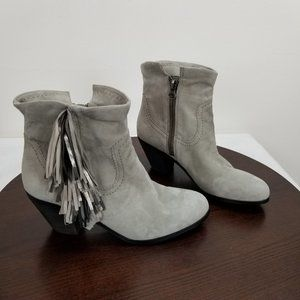 Sam Edelman 10.5M Suede Ankle Booties Gray